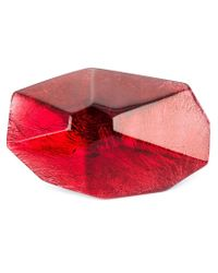 Monies | Red Large Facet Ring | Lyst