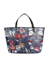 Love Moschino | Blue Tote Bag | Lyst
