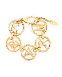 Moschino | Metallic Symbol Charm Bracelet | Lyst