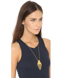 Gorjana | Metallic Blaine Pendant Necklace - Gold | Lyst
