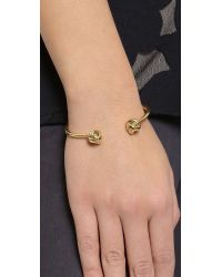 Kate Spade | Metallic Dainty Sparklers Knot Bracelet - Gold | Lyst