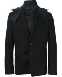 Juun.J - Black Detachable Hood Blazer for Men - Lyst