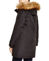 Kors by Michael Kors - Black Missy Parka With Faux-fur Trim - Lyst