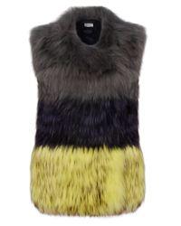 Yves Salomon | Yellow Trio Colour Fur Waistcoat | Lyst