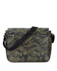 William Rast | Green Faux Leather Messenger Bag for Men | Lyst