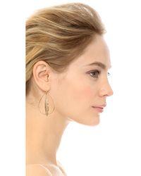 Juicy Couture - Metallic Feather Hoop Earrings - Lyst
