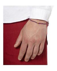 Luis Morais - Blue Rose-gold And Square-bead Bracelet for Men - Lyst