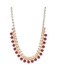 Fossil - Metallic Nacklace From Fossil - Lyst