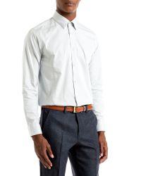 Ted Baker | White Bigidea Micro Dobby Shirt for Men | Lyst