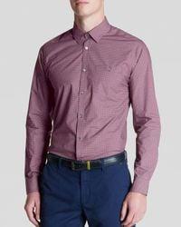 Ted Baker | Red Dotbiz Polka Dot Print Button Down Shirt - Regular Fit for Men | Lyst