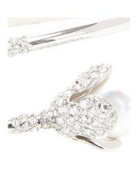 Balenciaga - Metallic Embellished Metal Cuff - Lyst