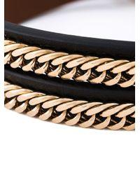 Givenchy | Black Triple Wrap Bracelet | Lyst