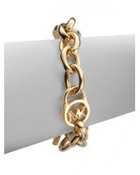 Michael Kors - Metallic Heritage Fulton Padlock Station Toggle Bracelet/goldtone - Lyst