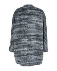 Martin Grant   Gray Alpaca Wool Cardigan Coat   Lyst