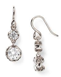Diane von Furstenberg | Metallic Cubic Zirconia Drop Earrings | Lyst