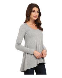 Karen Kane - Gray Seam Detail Sweater - Lyst