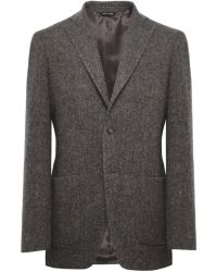 Jules B - Brown Herringbone Jacket for Men - Lyst