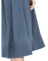 Banana Republic - Blue Belted Midi Skirt - Lyst