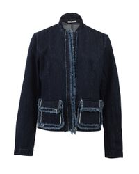 Tomas Maier | Blue Denim Frayed Jacket | Lyst