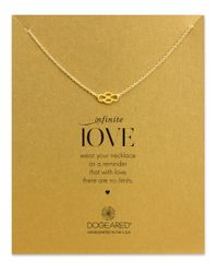 Dogeared | Metallic 14k Gold Dipped Infinite Love Pendant Necklace | Lyst