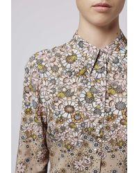 TOPSHOP | Natural Cerith Shirt By Unique | Lyst
