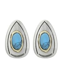 Sam Edelman - Blue Large Color Stud Earrings - Lyst