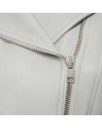 Alexander McQueen   Blue Leather Jacket   Lyst