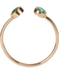 Dezso by Sara Beltran | Green Emerald Rose Gold Cuff Ring | Lyst