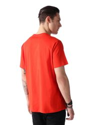 DIESEL - Red T-napol for Men - Lyst