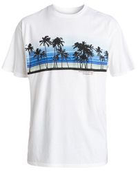 Quiksilver - White Waterman Sunset Palms Graphic T-shirt for Men - Lyst