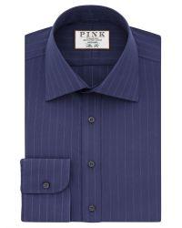 Thomas Pink | Blue Suffolk Stripe Slim Fit Shirt for Men | Lyst
