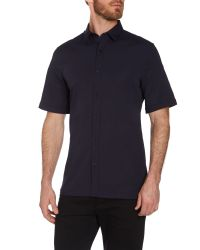 Calvin Klein - Blue Wings Short Sleeve Poplin Shirt for Men - Lyst