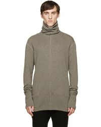 Nude:mm - Gray Taupe Wool Turtleneck for Men - Lyst
