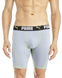 PUMA | Gray Perforated Boxer Briefs for Men | Lyst