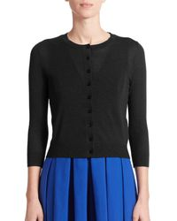 Michael Kors - Black Featherweight Cashmere Cardigan - Lyst