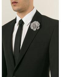 Lanvin | Gray Carnation Flower Tie Pin for Men | Lyst