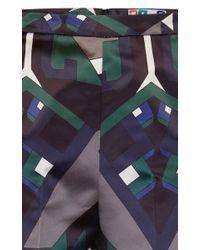 MSGM | Multicolor Ikat Print Duchesse Trouser | Lyst