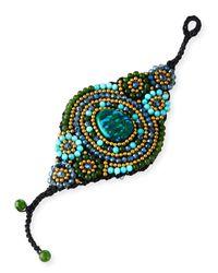 Panacea | Green Beaded Agate Rope Bracelet | Lyst