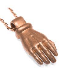 Ruby Kovo | Metallic Pave Hand Necklace | Lyst