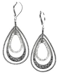 Judith Jack | Metallic Marcasite And Crystal Teardrop | Lyst