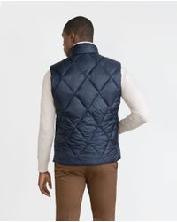 Zara | Blue Quilted Waistcoat for Men | Lyst