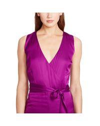 Ralph Lauren - Purple Charmeuse Wide-leg Jumpsuit - Lyst