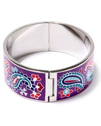 Liberty - Purple Denby Paisley Multicolour Thick Cuff - Lyst
