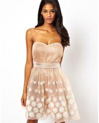 Little Mistress | Natural Prom Dress in Organza | Lyst