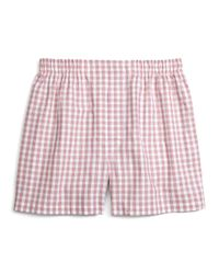 Brooks Brothers | Red Traditional Fit Framed Gingham Boxers for Men | Lyst