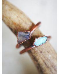 Free People | Brown Hawk House Womens Raw Opal Ring | Lyst