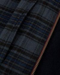 Ted Baker | Blue Drawn Wool Harrington Jacket for Men | Lyst