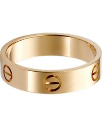 Cartier | Red Love 18ct Pink-gold Ring | Lyst