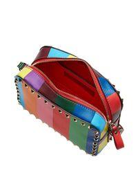 Valentino | Multicolor Rockstud 1973 Leather Camera Bag | Lyst