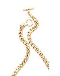 Michael Kors | Metallic Single Padlock Station Necklace - Gold | Lyst